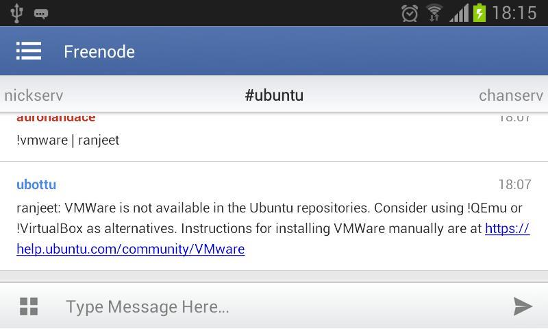 Irc ubuntu