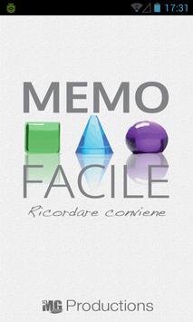 Memo Facile poster