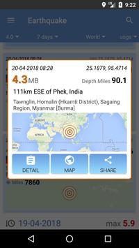 Earthquake apk screenshot