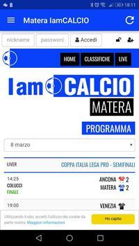 Matera IamCALCIO poster