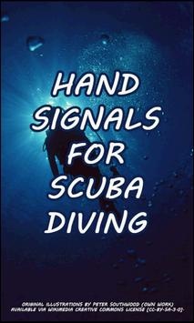 Hand Signals for Scuba Diving poster