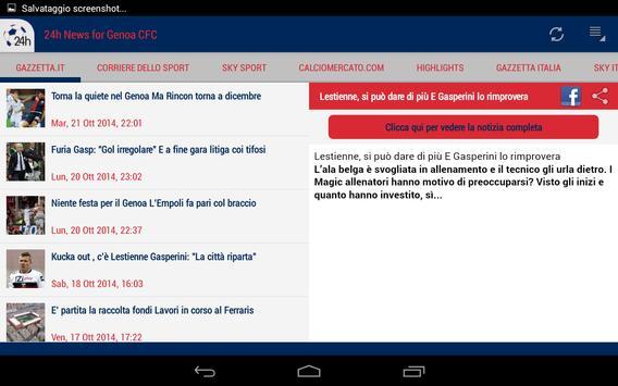 24h News for Genoa CFC apk screenshot