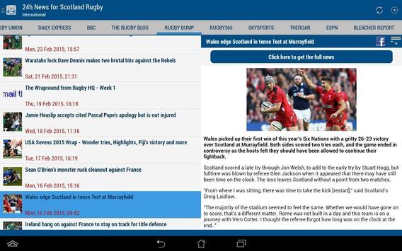 Scotland Rugby 24h apk screenshot