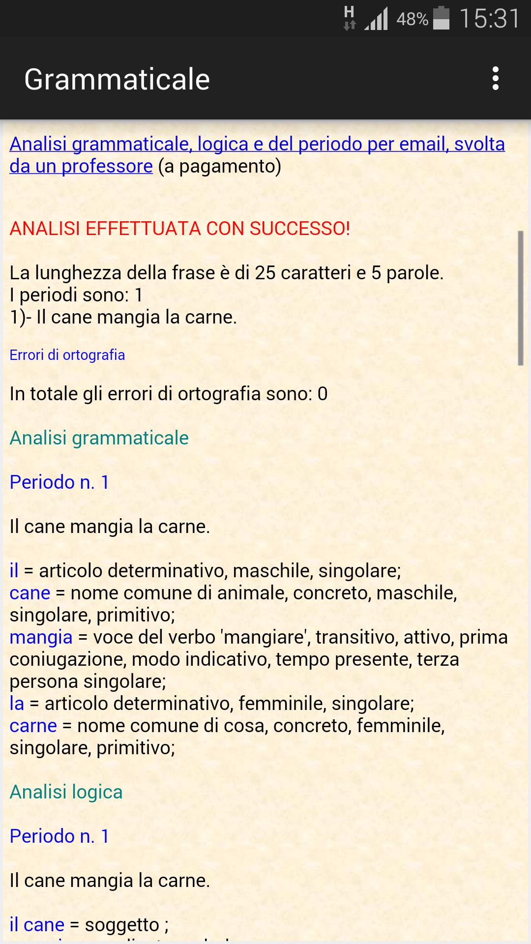Analisi Grammaticale Italiana For Android Apk Download