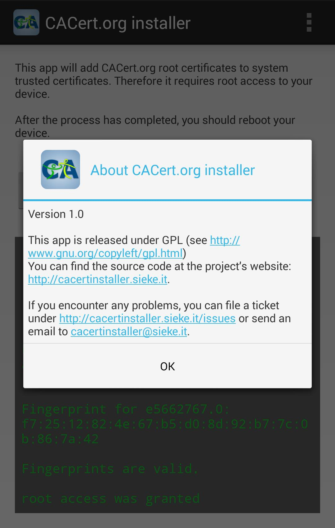 CACert org installer [root] for Android - APK Download