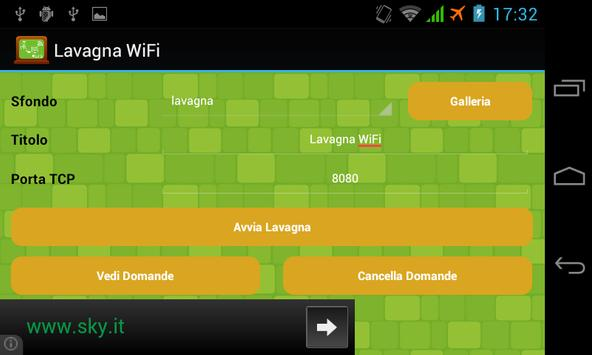Lavagna WiFi poster