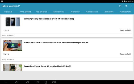 Notizie su Android™ apk screenshot