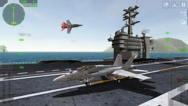 F18 Carrier Landing Lite الملصق