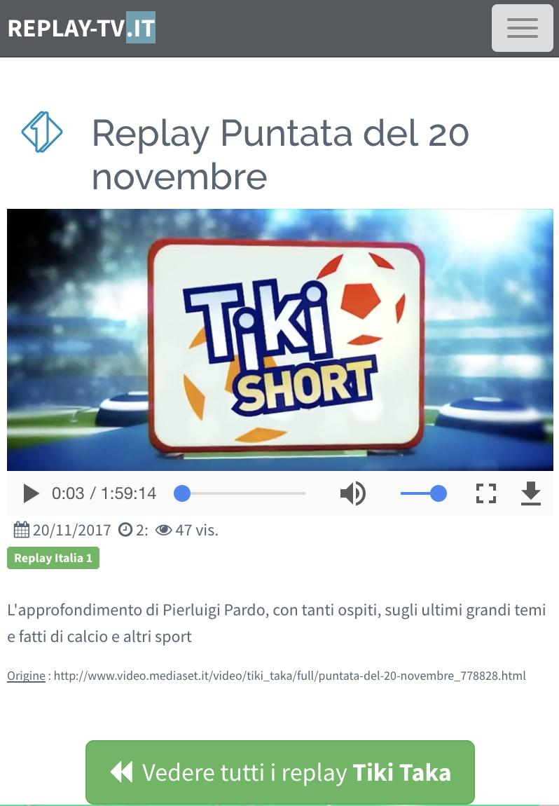 on sale cdb2d dd6e7 Replay TV Italia for Android - APK Download