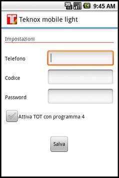 Teknox mobile light screenshot 1