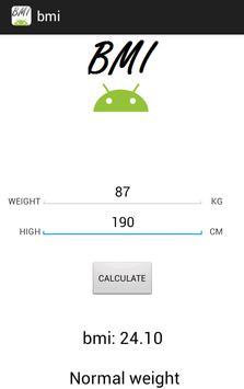 BMi Calculator! apk screenshot