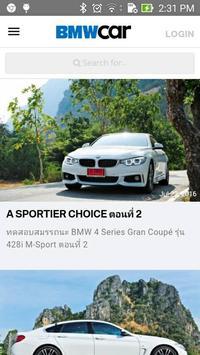 BMW Car Thailand poster
