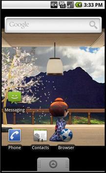 Geisha live wallpaper poster