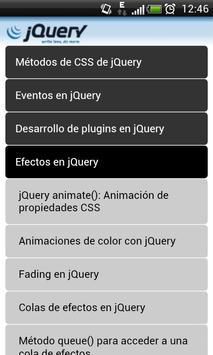 Manual jQuery apk screenshot