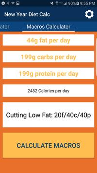NewYearDietCalc (Macros+More) screenshot 2