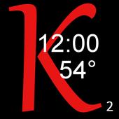 KeenClock2 BIG CLOCK and TEMP icon