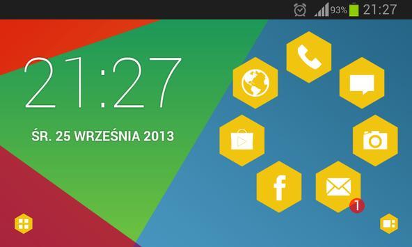 Hexagon Theme apk screenshot