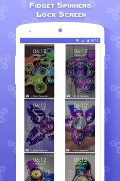Fidget Spinners Lock Screen apk screenshot