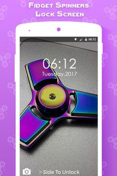 Fidget Spinners Lock Screen poster