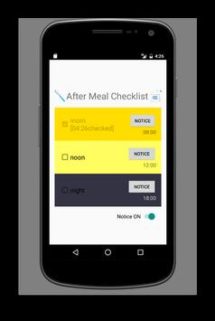 After Meal Checklist apk screenshot
