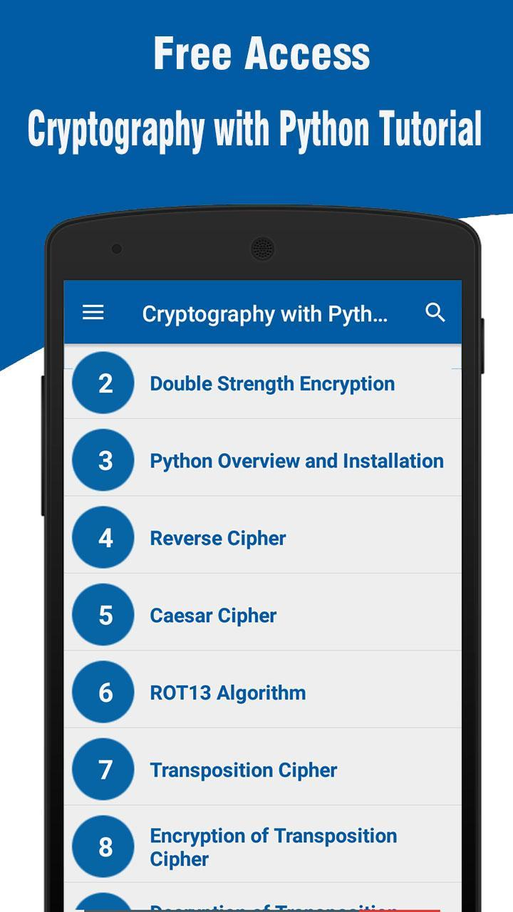 Cryptography with Python Tutorial for Android - APK Download