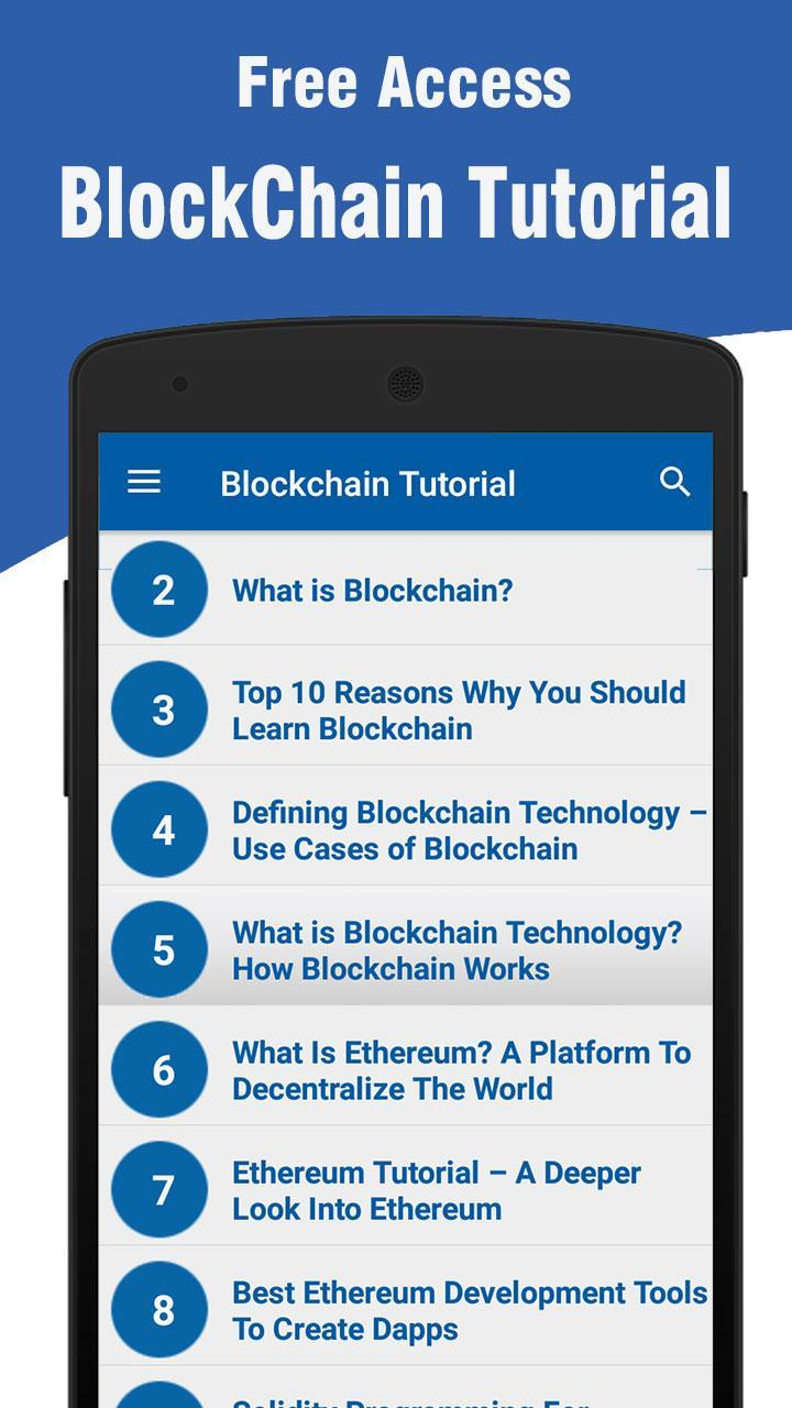 Blockchain Tutorial for Android - APK Download