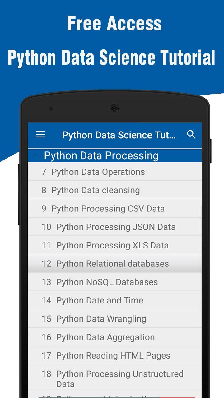 Python Data Science Tutorial for Android - APK Download