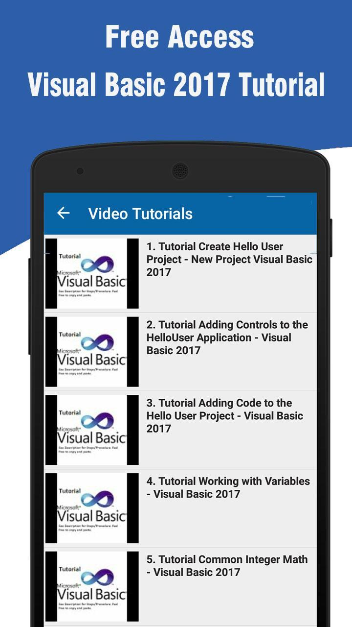 Learn Visual Basic 2017 for Android - APK Download