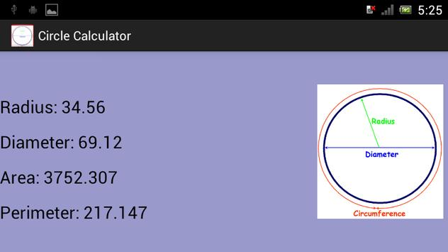 ... Circle Circumference Calculate apk screenshot ...
