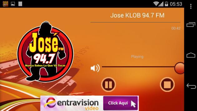 Jose KLOB 94.7 FM apk screenshot