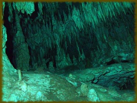 Underwater Caves wallpaper poster