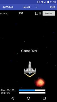 jetVshot (シューティングゲーム) apk screenshot