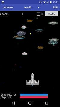 jetVshot (シューティングゲーム) poster
