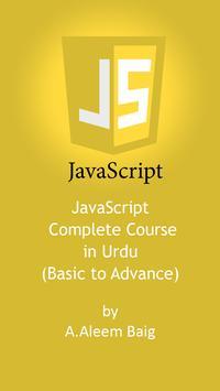 JavaScript Video Tutorial in Urdu poster