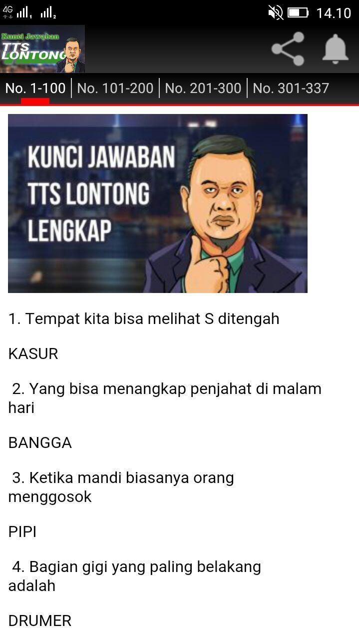 Jawaban Tts Lontong For Android Apk Download