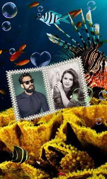 Dual Photo Aquarium Wallpaper poster