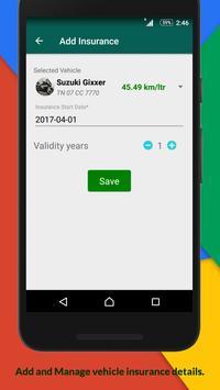 Mileage Calculator - Fuel & Insurance Manager apk screenshot