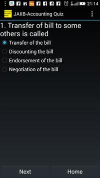 JAIIB-Accounting Quiz apk screenshot