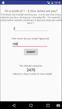 Calculate Your Calories apk screenshot