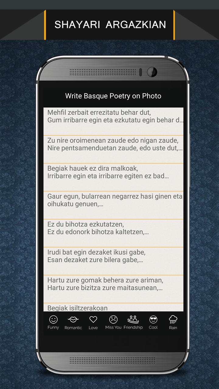 Write Basque Poetry on Photo poster