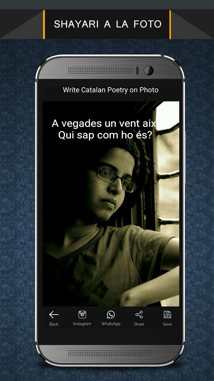 Write Catalan Poetry on Photo poster