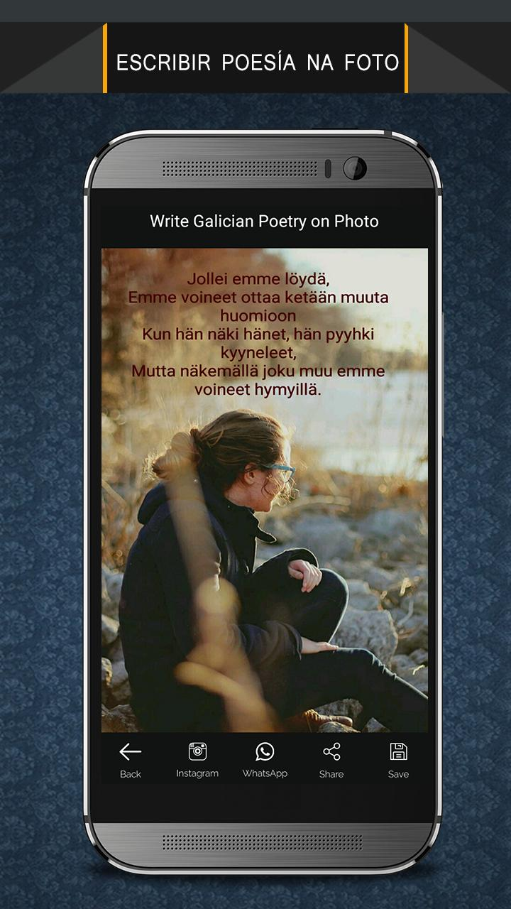 Write Galician Poetry on Photo poster