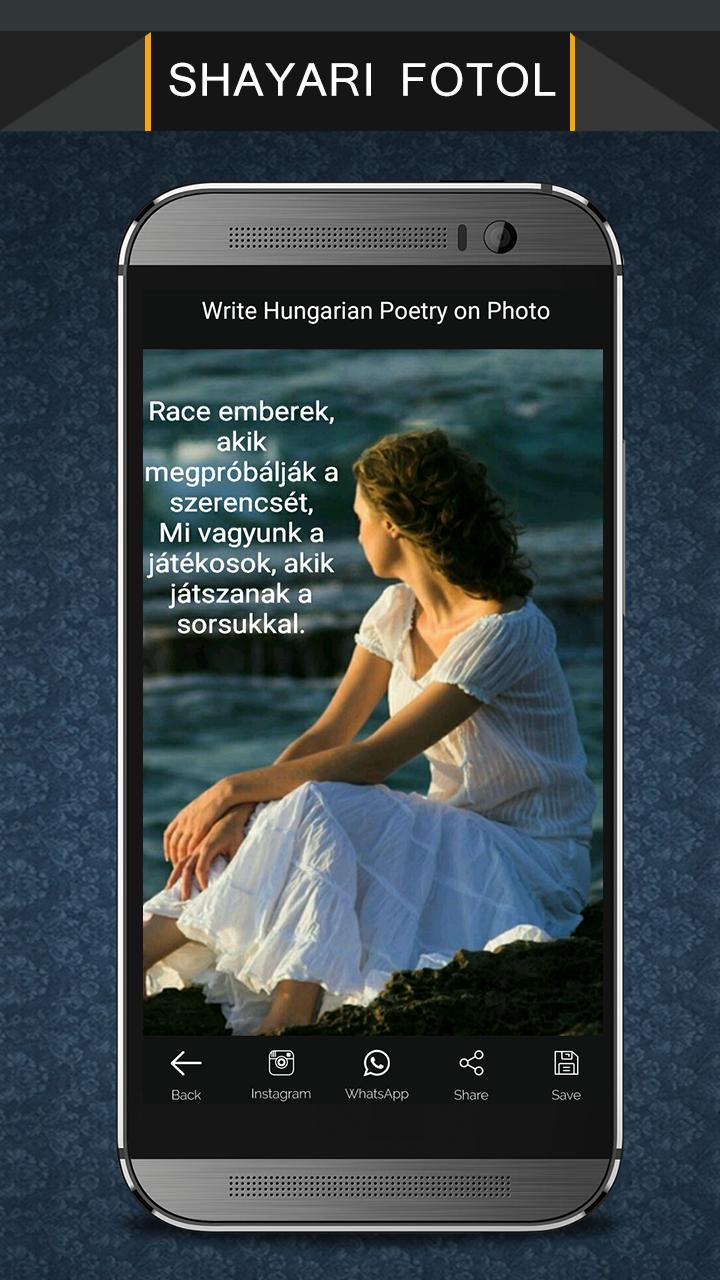 Write Hungarian Poetry on Photo poster