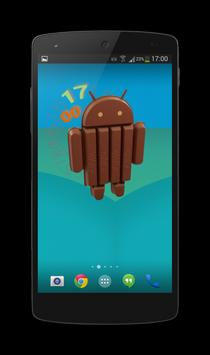 KitKat Clock Widget screenshot 1
