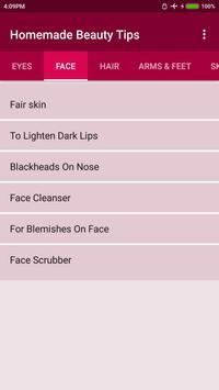 Homemade Beauty Tips Poster Apk Screenshot