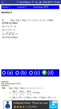 JEE MATHS LOGARITHM, SURDS AND INDICES MCQ screenshot 5