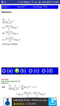 JEE MATHS LOGARITHM, SURDS AND INDICES MCQ screenshot 1