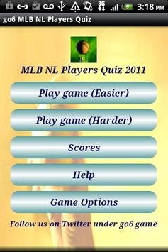go6 MLB NL Players Quiz Free poster