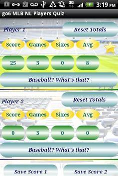 go6 MLB NL Players Quiz Free apk screenshot