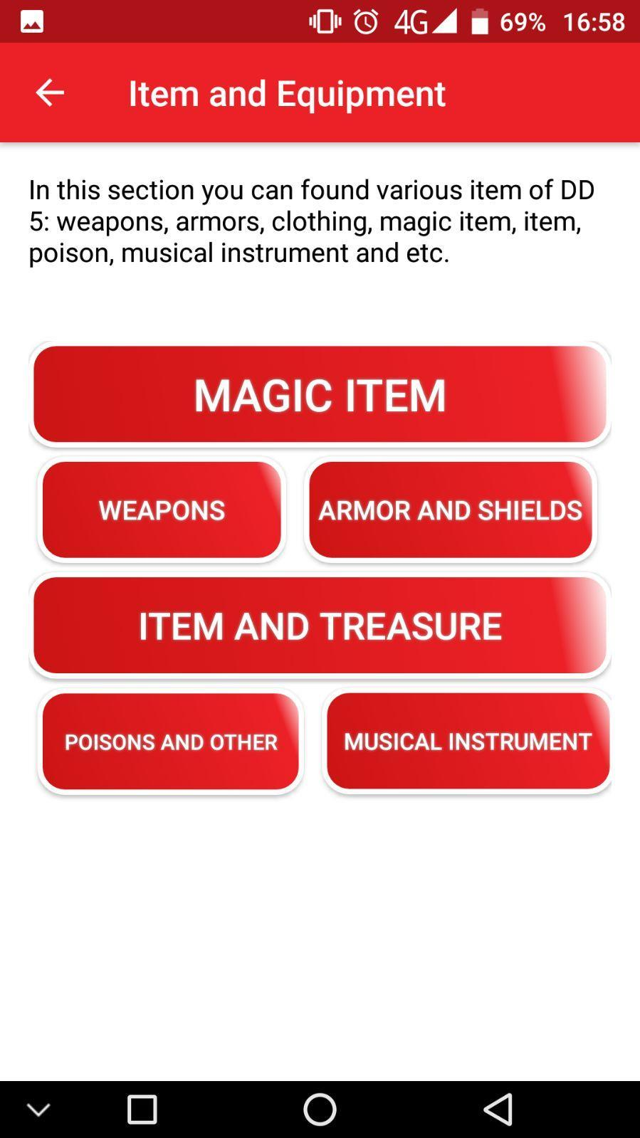 DnD 5e Database for Android - APK Download